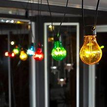 Cadena luces LED Biergarten set básico, multicolor