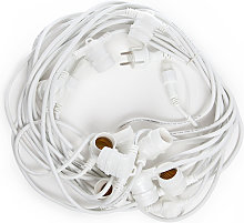Cadena Luminosa Blanco 11 X E27 IP44 12,5M