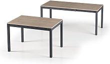 Caesaroo - Mesa 121x81 cm extensible Roble claro |