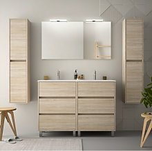 Caesaroo - Mueble de baño de pie 120 cm de madera