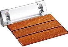 CAIJINJIN Baño de madera maciza asiento plegable