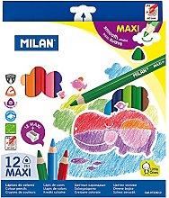 Caja 12 lápices de colores Maxi triangulares +