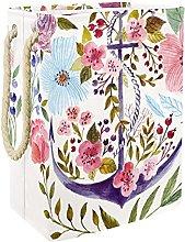 Caja De Almacenaje Acuarela Floral Cesta De