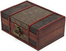 Caja de almacenamiento de madera hecha a mano
