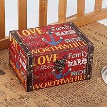 Caja de almacenamiento de madera, joyero de