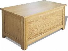 Caja de almacenamiento de madera maciza de roble