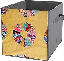 Caja de almacenamiento de ropa plegable cuadrada