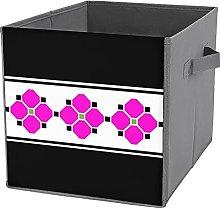 Caja de almacenamiento plegable para cubo de