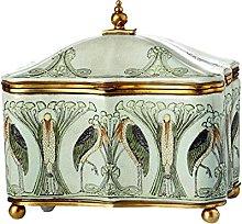 Caja De Joyería De Cerámica Retro, Trinket