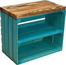 Caja de madera con asiento Johanna para fruta y