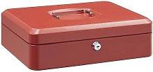 Caja fuerte metalica portatil caudales gigante Rojo