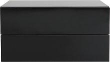 Cajonera diseño negro 2 cajones MAX