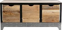 Cajonera / zapatero industrial de madera maciza y