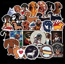 Calcomanía de perro perro perro salchicha maleta
