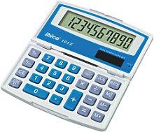 Calculadora IBICO 101X (blíster), blanco/azul