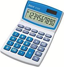 Calculadora IBICO 210X (blíster), blanco/azul