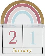 Calendario de arcoíris multicolor