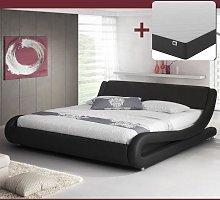 Cama Alessia color negro (120x190cm) con colchón
