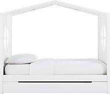 Cama cabaña infantil 90x190 blanca