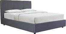 Cama canapé 160x200 cm en tejido gris SOGNO