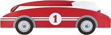 Cama-coche infantil 90×190 de madera roja