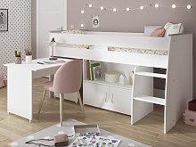 Cama combinada MARCELLE - Con escritorio y