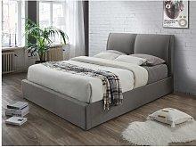 Cama con canapé abatible ALCEO – Tela gris