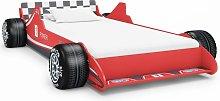 Cama con forma de coche de carreras para niños