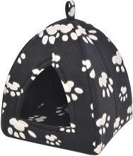Cama cubo para gatos tamaño L negro Vida XL