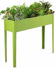 Cama Elevada de Metal Maceta para Jardín Estante Soporte para Plantas Flores Verde para Frutas (100x30x80cm)