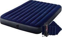 Cama hinchable Dura-Beam con bomba azul 152x203x25
