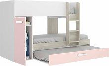 Cama infantil 2 camas, un armario con barra y