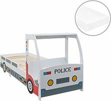 Cama infantil coche de policía colchón 7 zonas