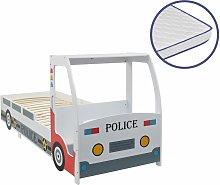 Cama infantil coche de policía colchón