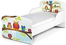 Cama infantil con colchón cómodo 140/70 cm.
