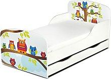 Cama infantil con colchón cómodo y cajón