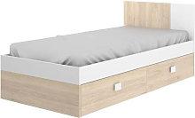 Cama juvenil con cama inferior de arrastre color