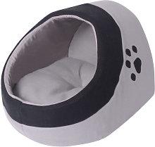 Cama nido para gatos con cojín Gris y Negro M