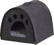 Cama para animales gris oscuro 40x40 cm BUDUG