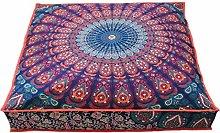 Cama para perro indio, estilo bohemio, tapiz