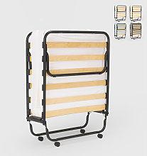 Cama plegable con colchón y somier de microfibra