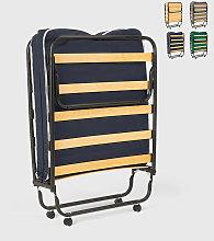 Cama plegable con ruedas, colchón y somier 80x180