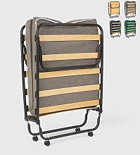 Cama plegable con ruedas, colchón y somier 80x190
