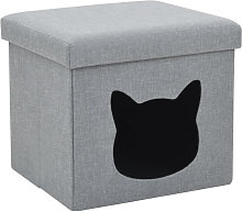Cama plegable para gatos lino sintético