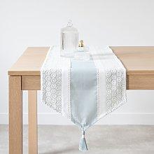 Camino de mesa de algodón con encaje 40 x 150