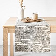 Camino de mesa de algodón ecológico color beige