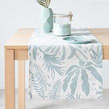 Camino de mesa de algodón ecológico color crudo