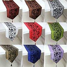 Camino de mesa de damasco, para decoración de