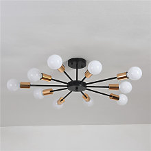 Candelabro moderno Sputnik de 10 luces, plafón