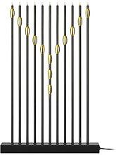 Candelabro Necklace 11 luces negro